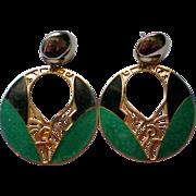 Edgar Berebi Large Dangle Pierced Earrings