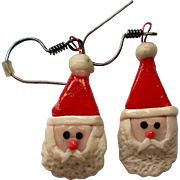 Santa Dangle Christmas Holiday Earrings