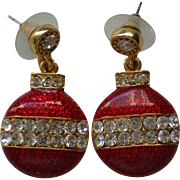 Christmas Tree Ornament Dangle Pierced Earrings