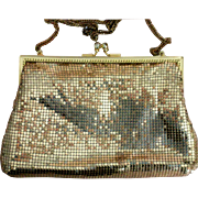 Whiting & Davis International Gold Metal Mesh Shoulder Bag or Clutch Purse