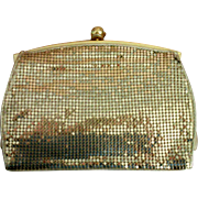 Whiting & Davis Gold Metal Mesh Clutch Purse