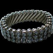 Sparkling Blue Rhinestone Expansion Bracelet