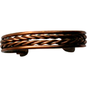 Braided Copper Cuff Bracelet