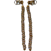 Rhondell Rhinestone Dangle Clip Earrings