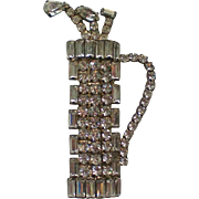 Sparkling Rhinestone Golf Bag with Clubs Pin