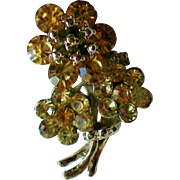 Pale Yellow Flower Bouquet Pin