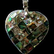 Abalone Shell Heart Pendant