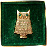 Avon Owl Glace Perfume Pin with Original Box