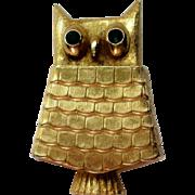 Avon Owl Perfume Glace Disc Pin
