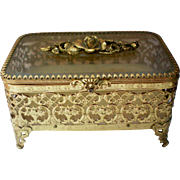 Matson Ormolu Dresser Jewelry or Trinket Box