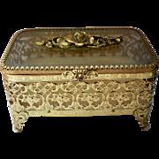 Matson Ormolu Dresser Jewelry or Trinket Box