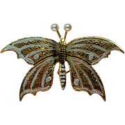 Damascene Butterfly Pin from Spain