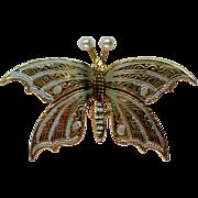 Damascene Butterfly Pin from Spain