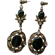 Edwardian Inspired Long Dangle Pierced Earrings