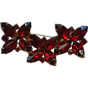 Fire Engine Red Marquis Rhinestone Pin