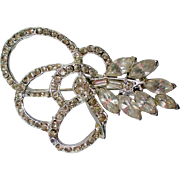 Bow Knot Clear Rhinestone Brooch