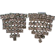 Clear Rhinestone Triangle Shoe / Dress Clips