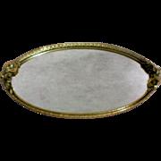 Gold Plated Matson Ormolu Vanity / Dresser / Perfume Mirror Tray