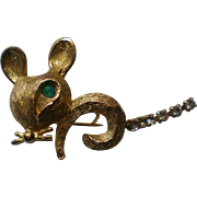 Tiny Golden Mouse Pin