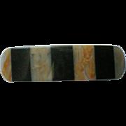 Striped Plastic Cellulose Hair Clip