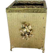 Matson Bird and Dogwood Ormolu Tissue Holder Box