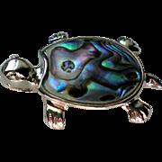Abalone Shell Turtle Pendant