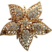 Gold tone Filigree Starfish Pin marked PIM