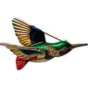 Jewel Tone Humming Bird Pin