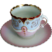 German Porcelain Cup and Saucer