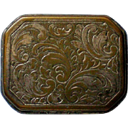Small Hinged Snuff or Pill Box