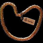 "Premier Designs ""Dana"" Gold tone Byzantine Necklace"