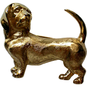 Trifari Wiener or Dachshund Dog Pin