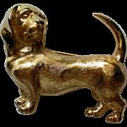 Trifari Wiener or Dachshund Dog Pin