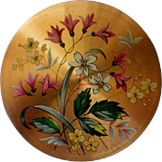 Powder Compact with Flowers from England