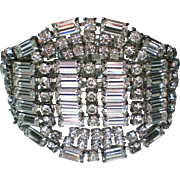 HUGE Clear Sparkling Rhinestone Bracelet with Pazzzzaz!
