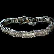 Sparkling Clear Rhinestone Link Bracelet