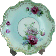 Pretty Scalloped Edge Decorated Cake Plate
