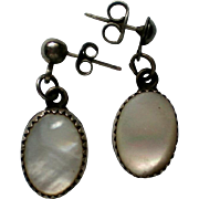 Mother of Pearl Pierced Dangle Earrings