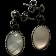 Mother of Pearl Pierced Dangle Earrings