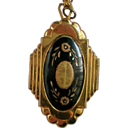 Damascene Locket Pendant Necklace