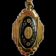 Damascene Locket Pendant Necklace