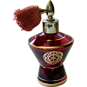 Ruby Red Glass Perfume Bottle