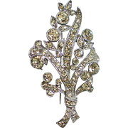 Book Piece – Signed Bogoff 1948 Rhinestone Brooch