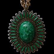 Book Piece ~ Celebrity Southwestern Pendant Necklace