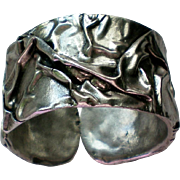 Pewter Hinged Cuff Bracelet from Athens