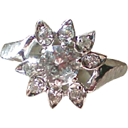 Fabulous Faux Diamond CZ Cocktail Ring