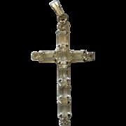 Baguette Crystal Cross Pendant