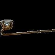 Sparkling Blue Topaz Stick / Lapel Pin