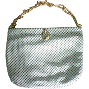 Whiting & Davis Creamy Ivory Metal Mesh Handbag