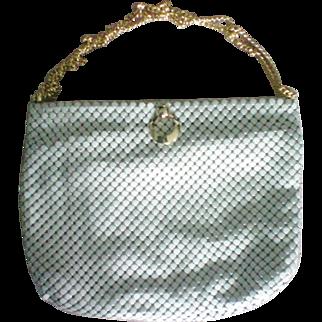 Whiting & Davis Creamy Ivory Metal Mesh Handbag